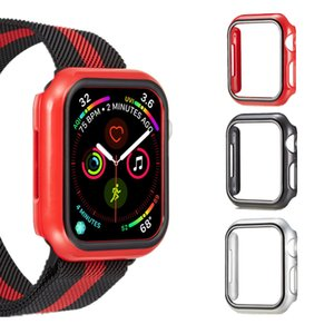 시리즈 4 44mm 40mm PC 케이스 Apple Watch 울트라 씬 커버 범퍼, Milanese Loop Band 포함 Apple Watch iWatch Strap 손목 시계