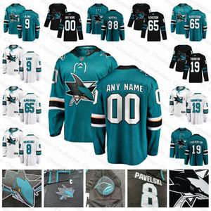 Özel San Jose Sharks Formalar Joe Pavelski Radim Simek Erik Karlsson Brent Burns Joe Thornton Logan Couture Beyaz Hokeyi Formalar