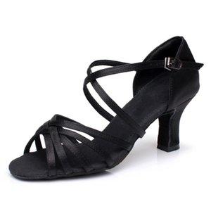 Femmes strass Latin Ballroom femme chaussures de danse latine Mesdames filles espadrille de danse pour les femmes Jazz Ballroom chaussures de danse À propos 7cm