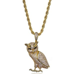 Iced Out Zircon Animal Pendant Animal Necklace Jewelry Gold Silver Copper Material Bling CZ Men's Hip Hip Pendant for Women