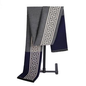 Cachecóis Designer Mens 12 estilos Geometric Cashmere como Winter Classic scraf frete grátis homens de negócios Xailes