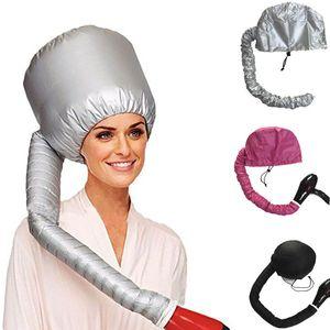 Schwarz / Splitter / Rosa tragbares weiches Haar Trocknungskappe einstellbare Frauenhaar-Blas-Schnelltrockner-Kappe Home Friseur-Salon-Versorgungszubehör