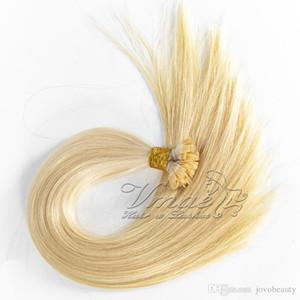 1g russo strand 100g disegnata doppio biondi capelli lisci umano cheratina pre legati piatto Tip Lordo remy vergine Hair Extension
