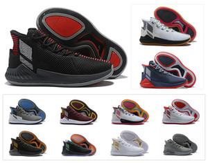Nova D Rosa 9 Sapatos de Basquete Dos Homens de Ouro Branco Homem Top Quality Derrick Subiu sapatos 9 s Sapatilhas Dos Esportes Sapatos de grife Tamanho 40-46