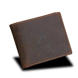 Portafoglio doppio in vera pelle da uomo con protezione completa RFID per tutto il tempo - Pelle robusta di qualità squisita, portamonete di lusso per uomo