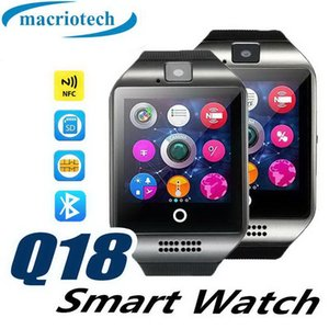 Vente chaude Q18 montre intelligente bluetooth caméra smartwatch TF Card et carte SIM Q18S montre intelligente NFC Bluetooth compatible avec IOS et Android