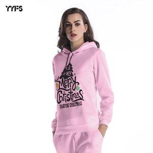 womens designer season Christmas tree hooded sweater large size loose plus velvet shirt WomenA CTEQ