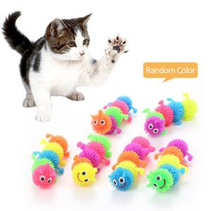 القطط الاليفة القطط الاصطناعي لعبة لينة الغراء اليسروع المزحة لعب القطط تخفيف الضغط playthings جديد وصول 1 1pe l1