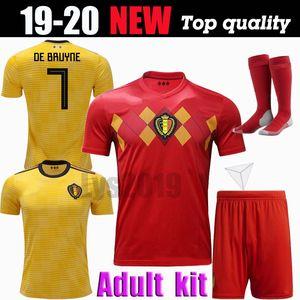 2018 2019 Belgium Home ay ay azy kompany de Bruyne Mertens Soccer Jersey Kit 18 19 Мир Кубок спортивной футбол