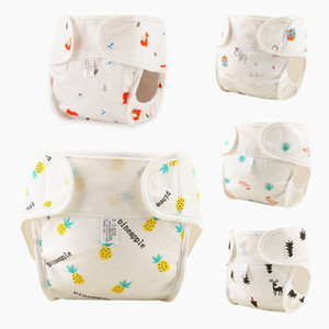 Baby Cotton Nappies Reusable Washable Cloth Flamingo Diapers Nappy Cover Waterproof Newborn Baby Traning Panties Pocket