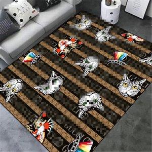 Stripe Стиль мультфильм Cat Ковры Новая мода Новый стиль Роскошный Drawing Room противоскользящий Ковер Home Украсьте Mat