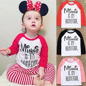 Bébé T-shirt imprimé à manches raglan Lettre shirt Vêtements enfants creux Casual filles Boy Sport Casual Hauts-12M 5T 07