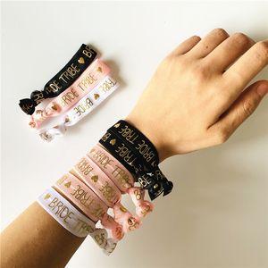 Braut zu Bachelorette Party Bridesmaid Armband Team Bride Tribe Handband Hen Night Hochzeit Supplie yq01946 Seien