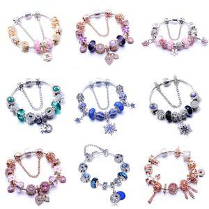 Genuine 100% 925 Sterling Alloy Bracelet Eternity Symbol Flower Knot Chain New Diy Woman Romantic Temperament Jewelry#695