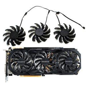 Ventoinhas 3 pinos T128010SM PLD08010S12H Fan cooler para Gigabyte GV-N970WF3OC-4GD GTX970 Video Graphics cartão Ventoinha