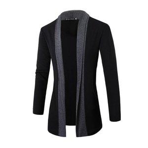 남성 봄 가을 가디건 옷깃 긴 소매 니트 스웨터 비즈니스 캐주얼 스타일 새 가디건 Sweatercoat를 들어 남성