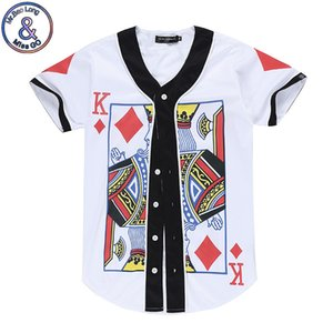 hombre 3D Designer hombres ocasionales digital de la impresión del patrón del patrón de póquer AQK gran tamaño y las mujeres camisa corta la camiseta del béisbol
