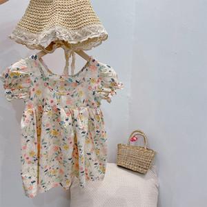 Kinder-Kleid für Mädchen-Baby-Kleidung-Sommer-Kleid für PUFFÄRMELN Mädchen Kleider 12M 2 3 4 6 8Y Kinder Kleidung