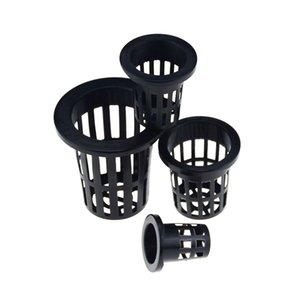 Home & Garden 50Pcs Black Hydroponic colonization Mesh Pot Net Cup Basket Hydroponic Planting Grow Clone Nursery Plant Soilless