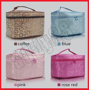 .Hot sale! Women Makeup Bag Designer Letter Zipper Storage Bag Fashion Cosmetic Bag Travel Waterproof Wash Bags 4 color