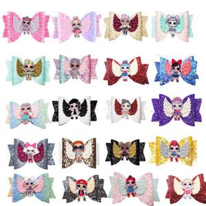 NOVA Hairpin Bebê Lantejoula Glitter Bow Clipes Meninas Bowknot Barrette Crianças Boutique de Cabelo Arcos Crianças Acessórios de Cabelo Quente VENDER