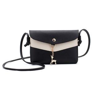 Womens Leather Crossbody Bag Sequins Small Deer Shoulder Messenger Bag Handbag Bandolera Mujer Bolsas Femininas