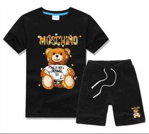 New Designer de Luxo Crianças Define Menino infantil roupas de grife crianças Sets Algodão Verão curtas bebê bebés e meninas