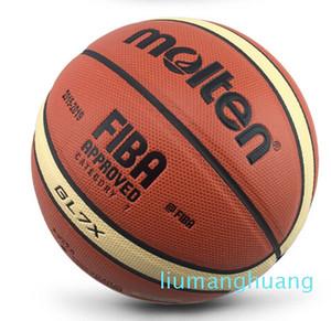 Sıcak Erimiş GG7X / GL7X / GG7 PU Deri Basketbol Açık Kapalı Boyut 7 # PU Deri Basketbol Topu Eğitim Basket Ball Net + Topu İğne Fc01