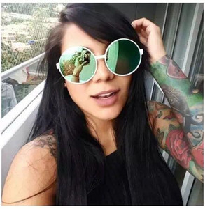 new designer sunglass Irresistor Milano fashion vintage round frame with coating lens summer style cool outdoor sunglasses polarized