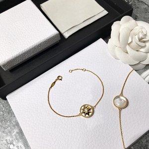 Gioielli di modo femmina 925 sterling a otto punte di stelle fritillary Five-Flower Bracelet Bracelet Bracelet Designer gioielli di moda per donna con scatola