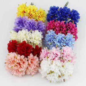 3cm soie artificielle Chrysanthème Fleurs Bouquet de jardin Décoration de mariage Scrapbooking 60pcs / Lot Faux plante