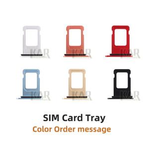 Ranura del soporte de la bandeja de la tarjeta SIM de alta calidad de 100 unids para iPhone 5S 6 6S 6PLUS 6S PLUS 7 7P 8 8 PLUS X XS 11 Slot Slot Bandet Bandeter Adapter