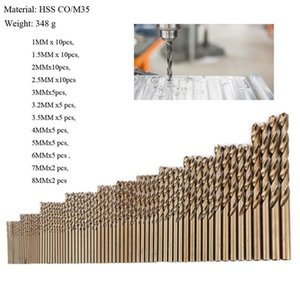 Tools 74pcs M35 1.0-8.0mm Cobalt Drill Bit Set High Speed Steel HSS-CO Twist Drills Bit For Metal Wood Working Power Combination Tools