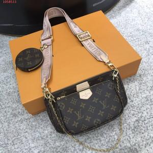 Novo híbrido saco cruz-corpo de três-em-um saco Jacquard alça da bolsa no ombro, as mulheres da moda Mini Pochette multi Pochette Accessoire com caixa