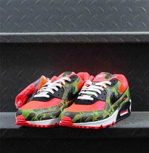 2020 Men 90s Shoes Atmos 90 Reverse Duck Camo Red off Sneakers 90 Trainers classic Sports Chaussures zapatos