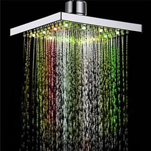 1PC Dusche-Kopf-Platz-Kopf-Licht Regen Wasser 26 Home Bad LED Auto Wechsel Dusche 7 Farben für Badezimmer Dropship Apr12