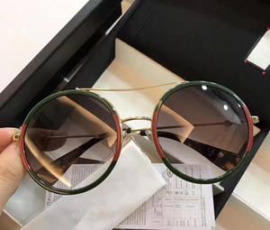 Toptan 0061 Erkekler ve Kadınlar marka Güneş Gözlüğü 0061 s Kare Çerçeve Mozaik Parlak Kristal Renkli Elmas UV400 Lens Orijinal Kutusu Ile g0061