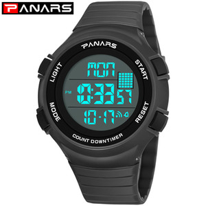 PANARS New Arrival 2019 Digital Watch Men LED Display Digital Military Sport Watch Men's Watches Fashion Wristwatch Mens 8106