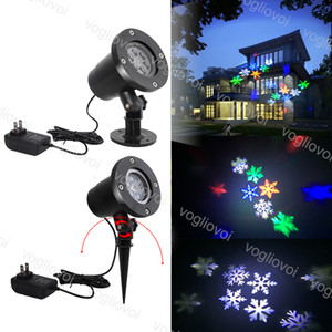 Effetti a LED 7W 110V 220 V Snowflake Laser Light Light RGB Colore Fiocco di neve per vacanze Natale Halloween Brightday Party Stage Lighting DHL