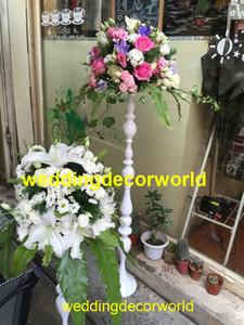 Yeni stil beyaz düğün için düğün masa süslemeleri için centerpieces beyaz devekuşu tüy ağacı decor0799