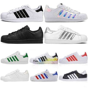 36-45 Originals Superstar Blanc Hologramme Irisé Junior Stan Smith Superstars 80's Pride Sneakers Super Star Femmes Hommes Sport Chaussures de sport