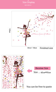 Flower Fairy Wall Stickers Mariposas dormitorio Girls Rooms decoración del hogar Art Decals 3D Wallpaper sticker adesivo de parede