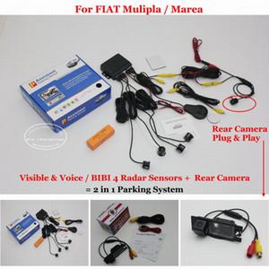 Mulipla / Marea için Liislee - Araba Park Sensörleri + Dikiz Yedekleme Kamera = 2 1 Görsel / BIBI Alarm Park Sistemi