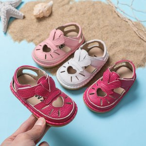 Summer barefoot genuine leather baby sandals female new 0-3 year old children breathable shoes baby toddler shoes soft bottom