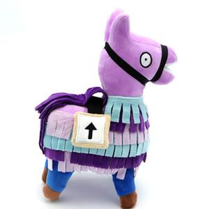 Quincena linda Troll Stash de la llama de la felpa del juego del arco iris alpaca caballo Stash relleno muñeca de juguete de peluche embroma el regalo Fortaleza de la noche de la muñeca