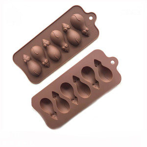 New Arrive Silicone chocolate molds ice cube 6 mouse silicone bakeware pastray cake moulds