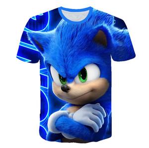 Kindkleidung Sommer-Kurzschluss-Hülsen-3D Karikatur druckte Sonic the Hedgehog T-Shirt für Jungen Street Teenager Jungen Kinder Tops
