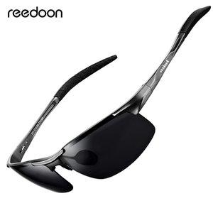 Reedoon óculos polarizados hd lente de metal quadro esporte óculos de sol marca designer para mulheres dos homens de pesca de condução ao ar livre r8177