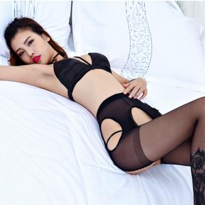 meias aberta sensuais sexy livre fio de núcleo super fino transparente senhora quatro lados calcinha oca mangueira
