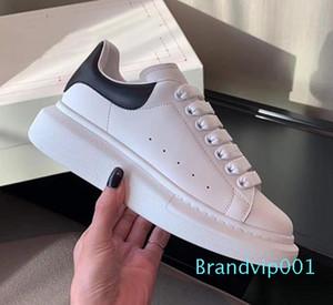 جديد أنيق فاخر مصمم الأحذية النسائية رجل مدرب جلد منصة حذاء مسطح عرضي حفل زفاف Chaussures احذية Loveres [مع مربع
